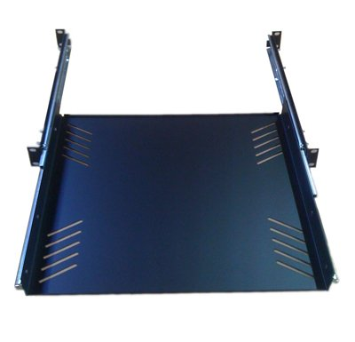 Shelf Rackmount Sliding - Penn Elcom R1290/1U Sliding Rack Tray (Audio, AV, IT, DJ) Equipment Shelf for 1 Rack Space up to 15