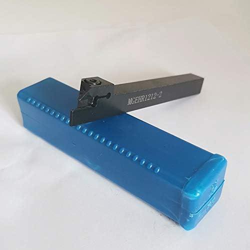 TOOGOO 実用的なCNC旋盤ターニングツール MGEHR1212-2カットオフツールホルダー 12 x 12 x 100Mmボーリングバー+ 10個MN200-G超硬インサートブレード