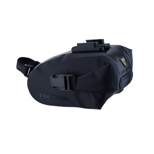 Topeak Wedge Drybag with Fixer (Black, 5.9x3.5x3.5-Inch, Small)