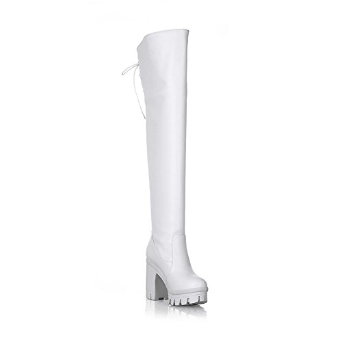 AdeeSu 37 5 EU SXC02088 Blanc Femme Plateforme xwHxUp