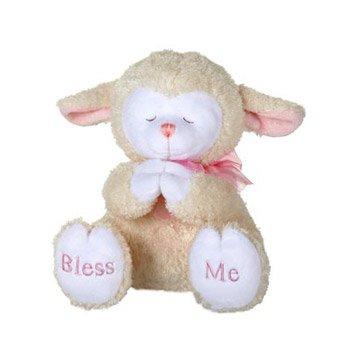 Praying Lamb (Praying Blue Baby Boy Lamb with Now I Lay Me Down to Sleep Sound 8