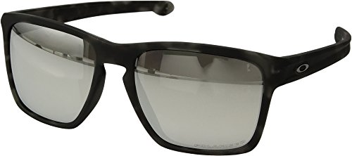 Oakley  Men's (A) Silver XL Polarized Polished Black W/ Black Iridium One - Website Oakley Sunglasses