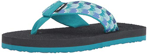Teva Girls' K MUSH II Flip-Flop, chia Aquamarine, 12 M US Little Kid