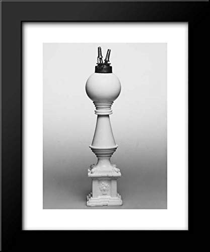 New England Glass Company - 20x24 Framed Museum Art Print- Oil Lamp