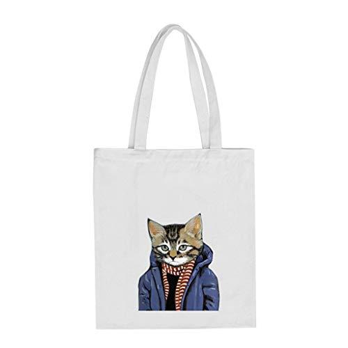 Bag Groomy Gatti A Shopping Per Tracolla Tela I In Stampata Con Borsa XqFwAqg
