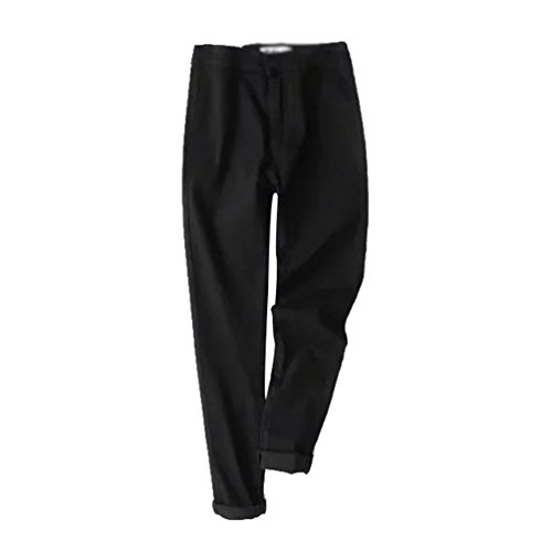 Jeans Denim Jeans Impresión Vaqueros Mujeres Elástico Pantalones 02 WanYang Negro Cintura Alta CqwRA40xC