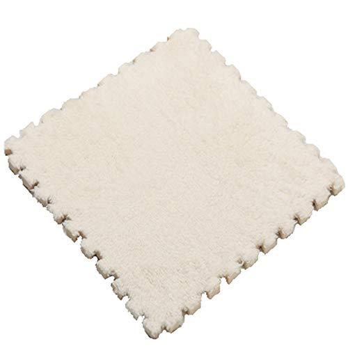 Jigsaw Carpet Baby Climbing Mat Foam Mat Stitching Bedroom Living Room Floor Mat Plush Carpet Mat Tatami 9 Piece,White
