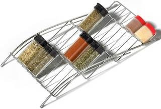 Chrome In-drawer Spice Rack Kitchen Home Storage Rack Organizational Tool Decor