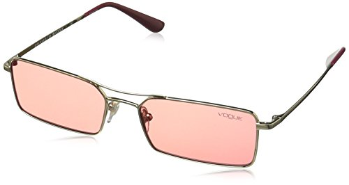 (VOGUE Women's 0vo4106s Rectangular Sunglasses, PALE GOLD, 55 mm)