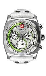 Zodiac ZO7011 - Reloj analógico de cuarzo para mujer, correa de cuero color blanco