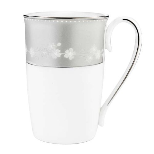 Lenox Bellina Bone China Platinum Banded Accent Mug