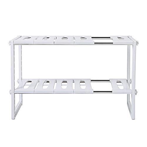 (theBathMart Adjustable & Expandable Under Sink Storage Shelf)