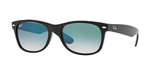 Ray-Ban Men's New Wayfarer Square Sunglasses, Black, 51 - Ban New Sunglasses Style Ray