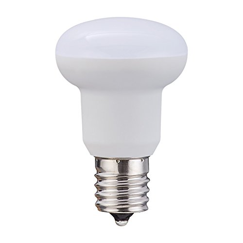 50 Watt E17 Medium Base (BR14 R14 3Watt quivalent Light Bulb E17 Base Non-Dimmable,Daylight White 5000k for Ceiling Fan and other indoor decorative lighting)