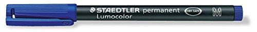 Staedtler Universal Lumocolor permanent , M, BLUE 317-3 Line width 1 (Lumocolor Blue Markers)