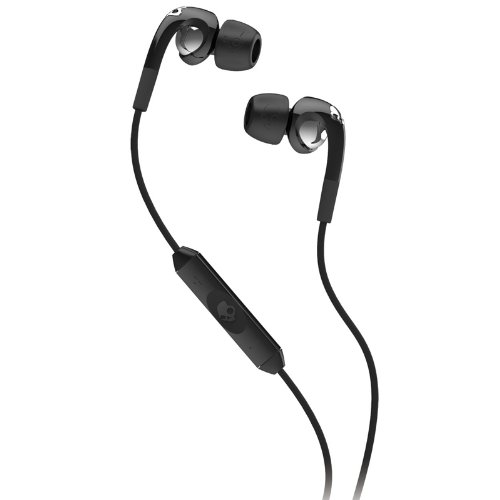 Skullcandy SCS2FXFM-003 Earbuds Headphones Black (Best Skull Drawing Ever)