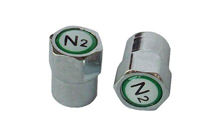 SKU 605 - 1,000 Pak Chrome Plated Nitrogen Valve Caps With N2 Logo by ECCO