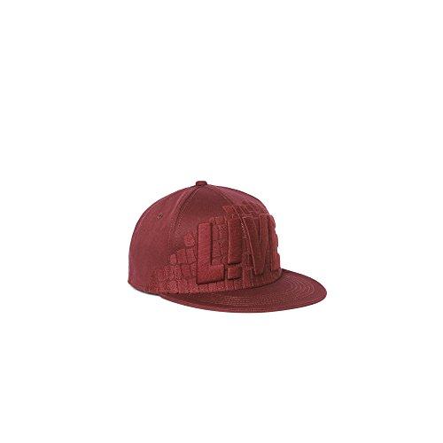 Lacoste Men's L!ve Croc Printed Snapback Hat M/S/M Burgundy/Burgundy