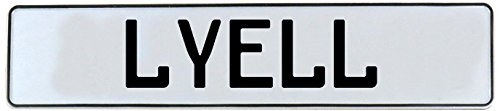 Vintage Parts Lyell Stamped Aluminum Street Sign Mancave Wall Art, - Metal Lyell