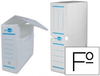 Liderpapel - Caja archivo definitivo plastico blanco tamaño 36x26x10 cm (5 unidades): Amazon.es: Oficina y papelería
