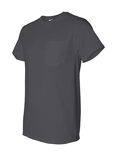 Fruit of the Loom 5 oz. Heavy Cotton HD Pocket T-Shirt (3931P) -Charcoal G -XL