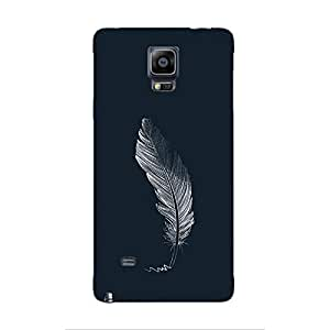 Cover It Up - Feather Grey Galaxy note Edge Hard Case