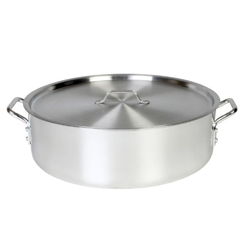 Thunder Group 24 Quart Aluminum Braiser with Lid