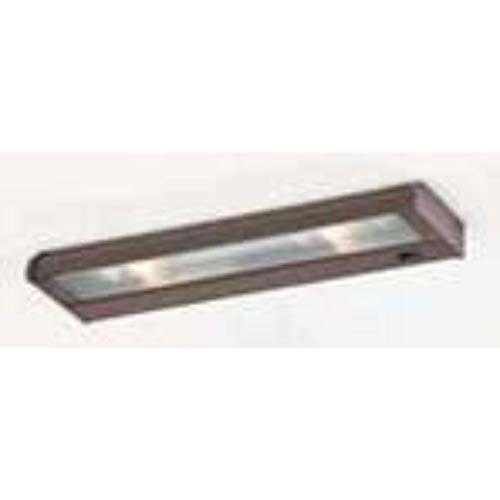 CSL Lighting NCAX-120-8BZ Counter Attack 8IN Undercabinet Fixture, Bronze Finish with Prismatic Glass Diffuser