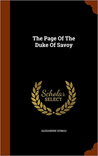 Book The Page Of The Duke Of Savoy