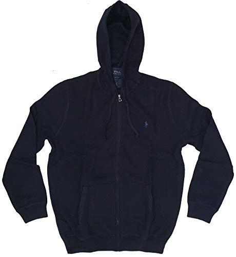 Polo Ralph Lauren Men's Full Zip Pima Cotton Knit Hoodie (Navy Heather, X-Large)