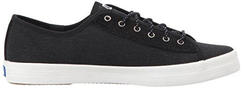 Keds-dames Kickstart Canvas / Suede Wx Sneaker Zwart