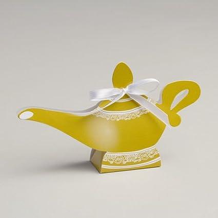 D&Y Ballotins à dragées - boites à dragées Forme Lampe d'Aladin Oriental x10 Mariage baptême Communion Anniversaire Y&D