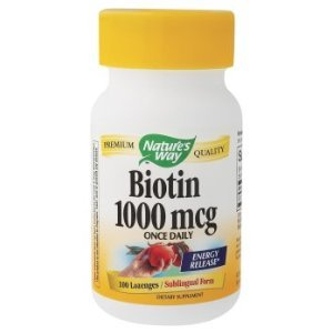Natures Way biotine, 1000mcg 100 Lozenges