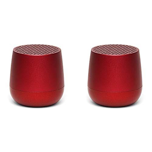 Lexon Twin MINO - Ultra Portable Bluetooth Speaker & Selfie Remote - Rechargable - Red