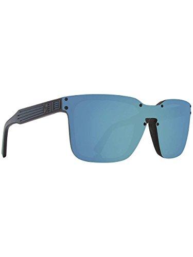 Dragon Mansfield Sunglasses Matte Black And Blue/Sky Blue Ionized, One - Dragon Sunglasses Blue