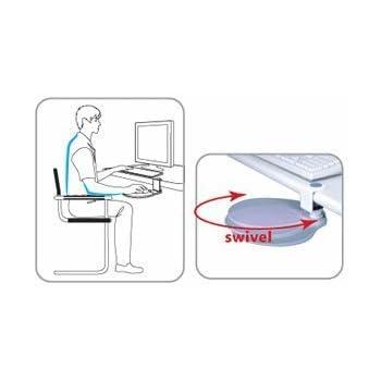 """Aidata Under Desk Mouse Platform (Platinum) (10""""W x 2.5""""H x 8""""D)"""