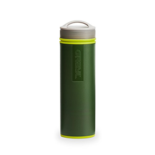 GRAYL Ultralight Water Purifier [+ FILTER] BOTTLE (Green) by GRAYL