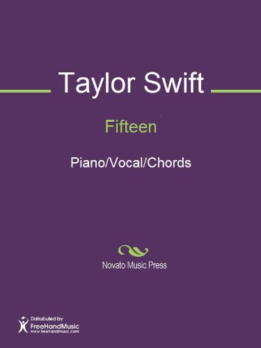 Fifteen Sheet Music Pianovocalchords Kindle Edition By Taylor