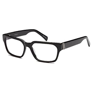 Mens Thick Prescription Eyeglasses Frames 56-17-135-38 in Black