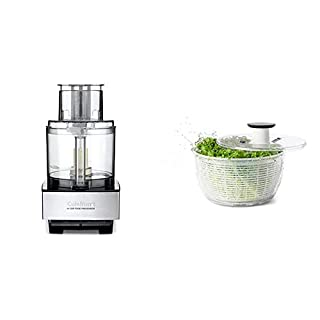 Cuisinart DFP-14BCNY 14-Cup Food Processor, Brushed Stainless Steel - Silver & OXO Good Grips Salad Spinner, Large