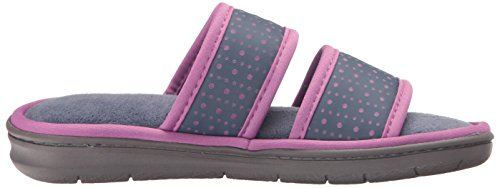 Perfed Double Women's Dearfoams Band Nylon Indigo Slide Slipper fRUavq1