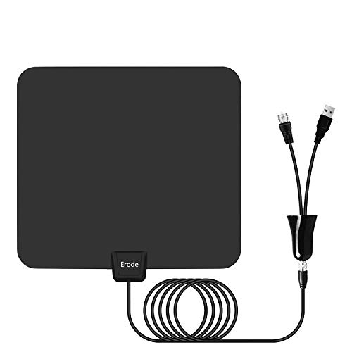 Digital TV Antenna - Amplified HDTV Antenna 75+ Miles Range with 2019 Newest Powerful Amplifier Signal Booster, Support 4K 1080P for All Old TVs w/ 13.2ft Coaxial Cable