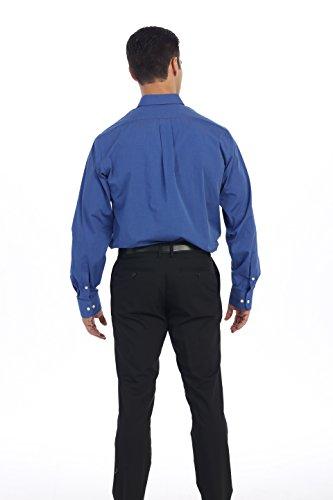 "Arrow Mens Classic Fit Dress Shirt Solid 16.5"" Neck 32/33""sleeve bright blue"