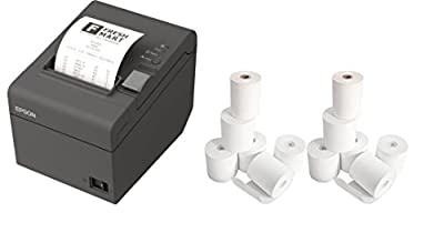 Thermal Receipt Printer and 12 Rolls of Epsilont Receipt Paper - (Part#: A41A266611)