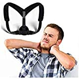 BEST POSTURE CORRECTOR - Clavicle Support Brace, Primate Back Brace, Upper Back Pain Relief, Back Straightener and Trainer, Upright Go, Posture Corrector for Women or Men, One Size by OVATION HOME