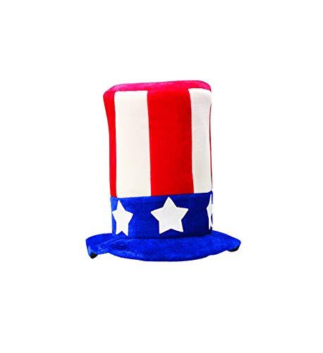 (Forum Novelties Men's Promotional Uncle Sam Top Hat Party Supplies, Standard, Multicolor)
