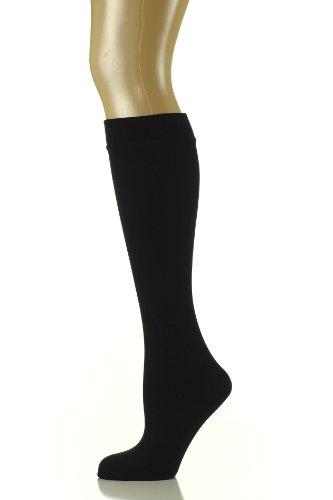 - Noble Mount Womens Premium Fleece Lined Trouser Socks - 2PK (Size 9-11) - Black