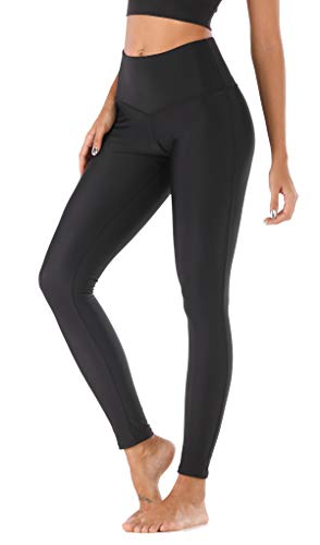 MAXE Women's Athletic Tight Legging Swim Surfing Pants High Waisted Sun Protection Tummy Control UPF 50+ Black ()