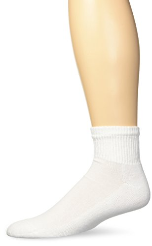 Gildan Men's Stretch Cotton Ankle Socks, 12-Pack, White, Shoe Size: 6-12