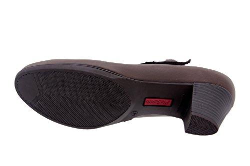 Calzado mujer confort de piel Piesanto 3459 zapato mercedes casual cómodo ancho Caoba